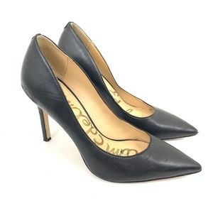 Classic Black Leather Pointed 3.5 Stiletto Pumps 7